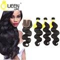 Peruvian Virgin Hair With Closure Ali Moda Peruvian Body Wave With Closure 3 bundles with closure Peruvian Virgin Hair Body Wave