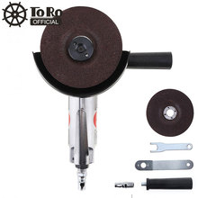 TORO 4 Inch High-speed Pneumatic Angle Grinder with Disc Polished Piece and PVC Handle for Machine Polished /Cutting Operation
