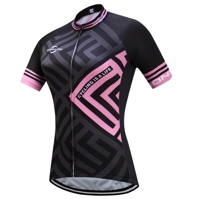 DONSUNG Mujeres Ciclismo Jersey Bike Shirts Estilo Hermoso Verano de Secado  rápido MTB Bicicleta Jersey Ciclismo 60a281992aa23