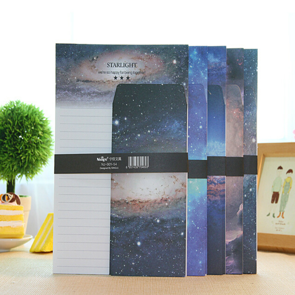 Dreamland Nebula Writing set Paper Envelope Stationery Letter Pad Christmas Gift card envelopes wholesale lettre papier