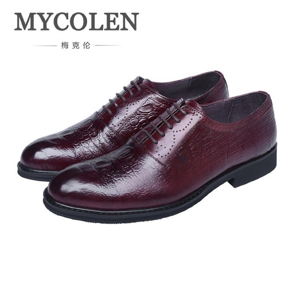 MYCOLEN Designer Wedding Shoes Man Genuine Leather Oxford Shoes Comfort For Men Formal Mariage Round Toe Dress Shoes Schuhe