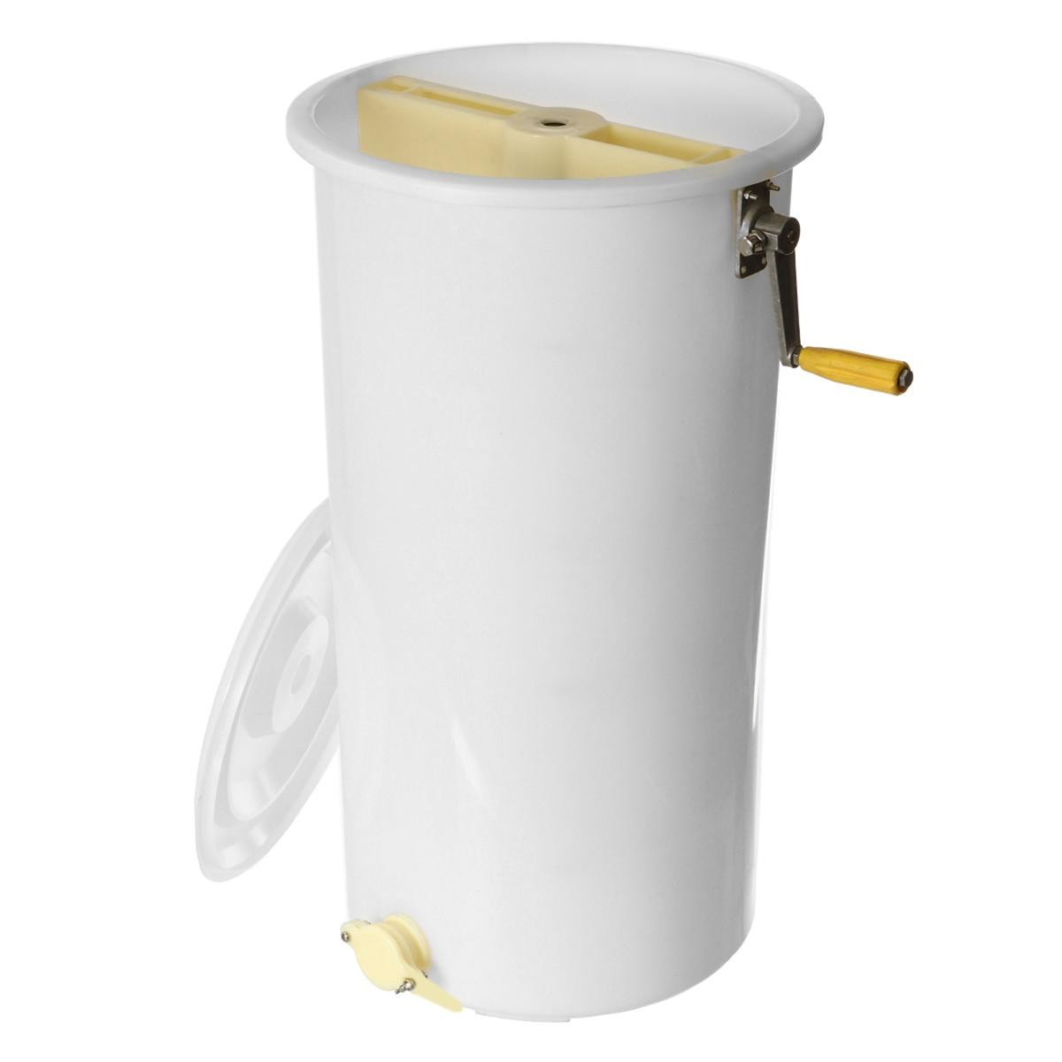 Extracteur de miel deux 2 cadre tangentiel manuel manivelle Spinner apiculture de qualité alimentaire en plastique facile à nettoyer 40x70 cm