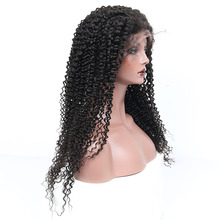 Kinky Curly Lace Front Human Hair Wigs Brazilian Nature Hairline 130% Density Pre Plucked With Baby Hair Remy Sunny Queen