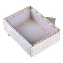 Dikdörtgen silikon sabun kalıp için ahşap kutu ile el yapımı Loaf kalıp araçları