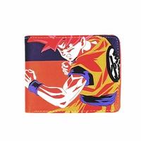 2016 Short Wallets Cartoon DragonBall Super saiyan cool wallet Kakarotto Monkey King Anime Fans Purse Collection Kids Wallets