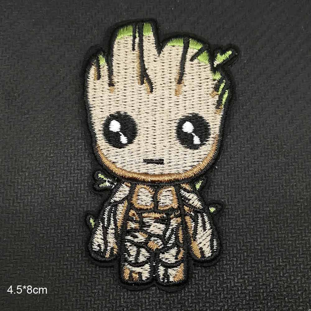 Cartoon Treeman Guardians of the galaxy Fox Iron On Embroidered Clothes Patches For Clothing Stickers Garment Wholesale