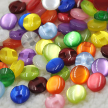 500 pcs Child Clothes Candy Color Eye Cat Stone Button/Sewing lots - Free Shipping( Mix color)