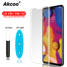 Akcoo 3D Curved Tempered Glass For LG V30 V40 G7 ThinQ Screen Protector