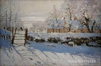 The Magpie Claude Monet garden oil painting reproduction Hand painted High quality