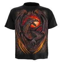 Skipoem 3D Printed T Shirts Men Skyrim Fire Dragon O Neck Compression Tshirt Short Sleeve 2018 Brand Male Tops Tee