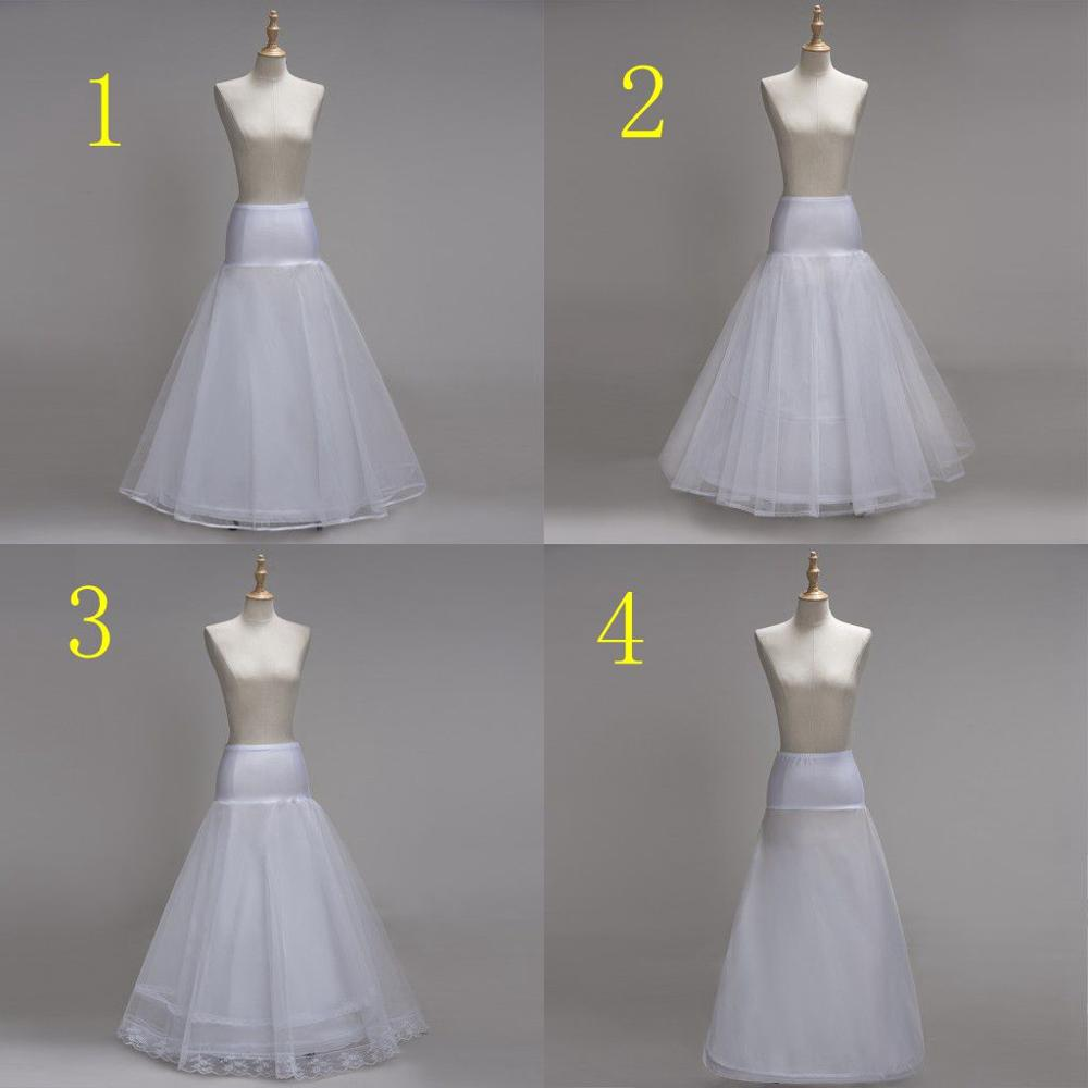 4 Style White A Line Long Wedding Petticoats Underskirt Crinoline Long Bridal Petticoats Jupon Marriage Wedding Accessories