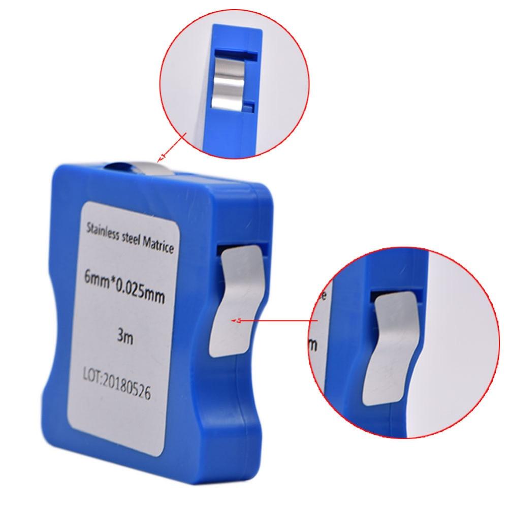 Bandas claras da matriz da resina curada do filme do aço inoxidável/do poliéster 5mm/6mm/7 tiras matriz de largura de mm 0.025mm