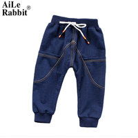 AiLe conejo la primavera de 2018 los nuevos pantalones vaqueros de los niños pueden abrir el archivo A se compromete A bragas de algodón puro