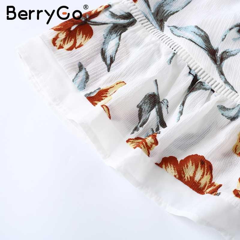 BerryGo с открытыми плечами кружевной Цветочный Рисунок летнее платье женское сексуальное открытое Белое Мини пляжное платье элегантное платье со складками vestido