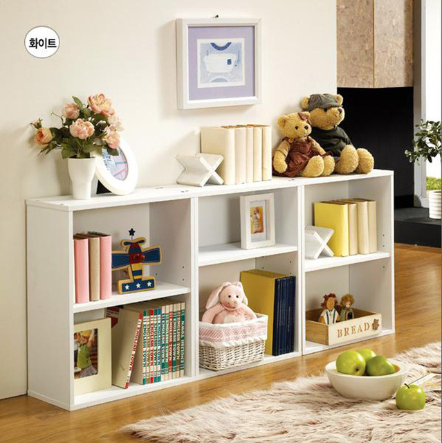 Bookcases Living Room Furniture Home Panel Wood Bookcase With Drawer Bookshelf Whole Sale 2017 482