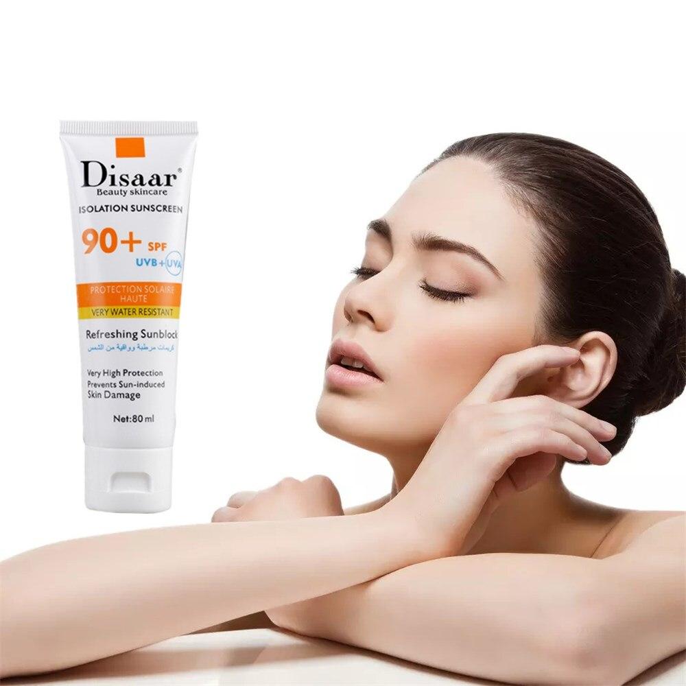 Face Foundation Base Makeup 80ml Concealer Isolation Sunscreen Nude Makeup Foundation SPF 80 PA ++ UV Protection Sun Cream