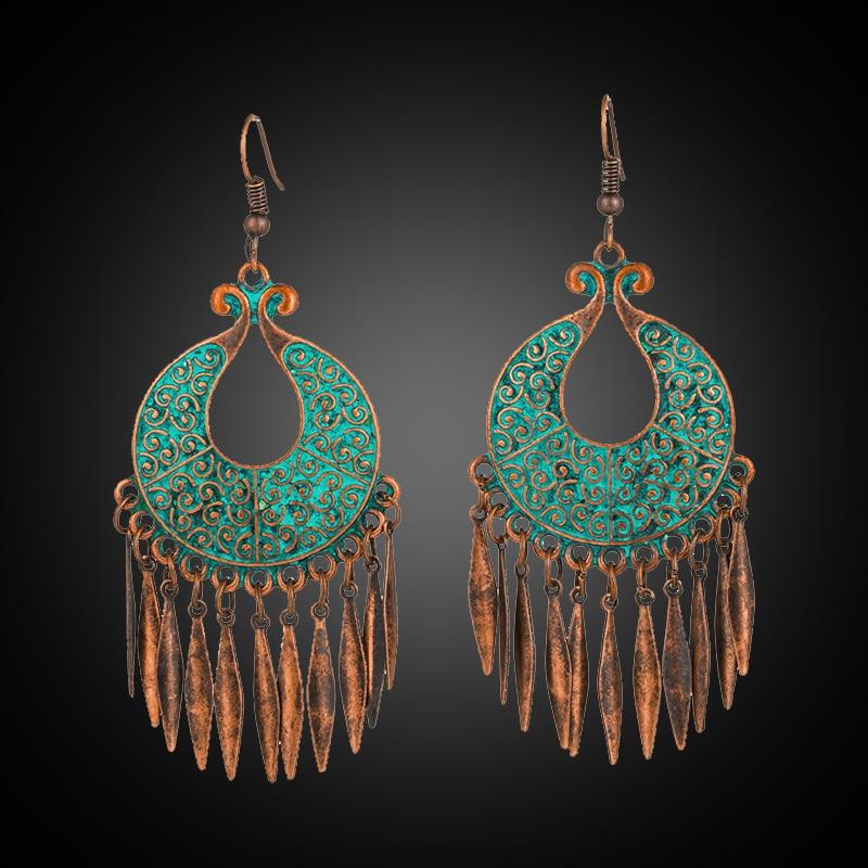 Antique Dangle Hanging Drop Earrings For Women 2018 New Fashion Women Ear Jewelry Accessories E020639