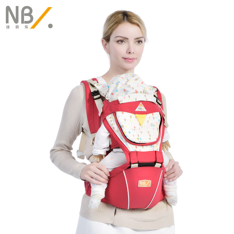 NewBealer Breathable Cotton Multifunctional Baby Child Sling Carrier Kid Backpack Hipseat Waist Stool For Caesarean Mothers