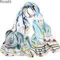 Real Silk Scarf Mulheres 2016 Senhoras Nova Moda Chegada Longa Bandana 180x50 cm Lenço de Seda estilo Chinês Impresso lenços SC1702