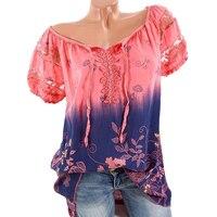 Summer T Shirts 2018 Women Tops Tee Round Neck Short Sleeves Loose Casual Summer T Shirt