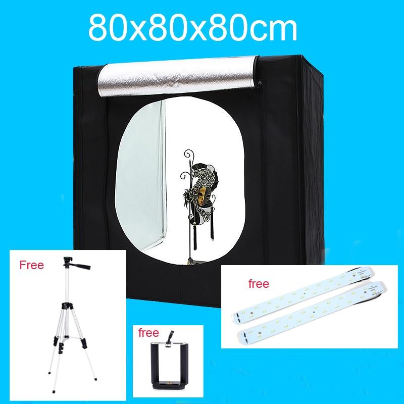 цена на 80*80*80CM Photo Studio Soft Box Photo Tent Lightbox Photography Softbox Shooting Light Box With Free Gift