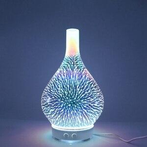 Image 2 - 3D Firework Glass แจกัน Shape Air Humidifier 7 สี LED Night Light น้ำมันหอมระเหยกลิ่น AROMA Mist อัลตราโซนิค hu