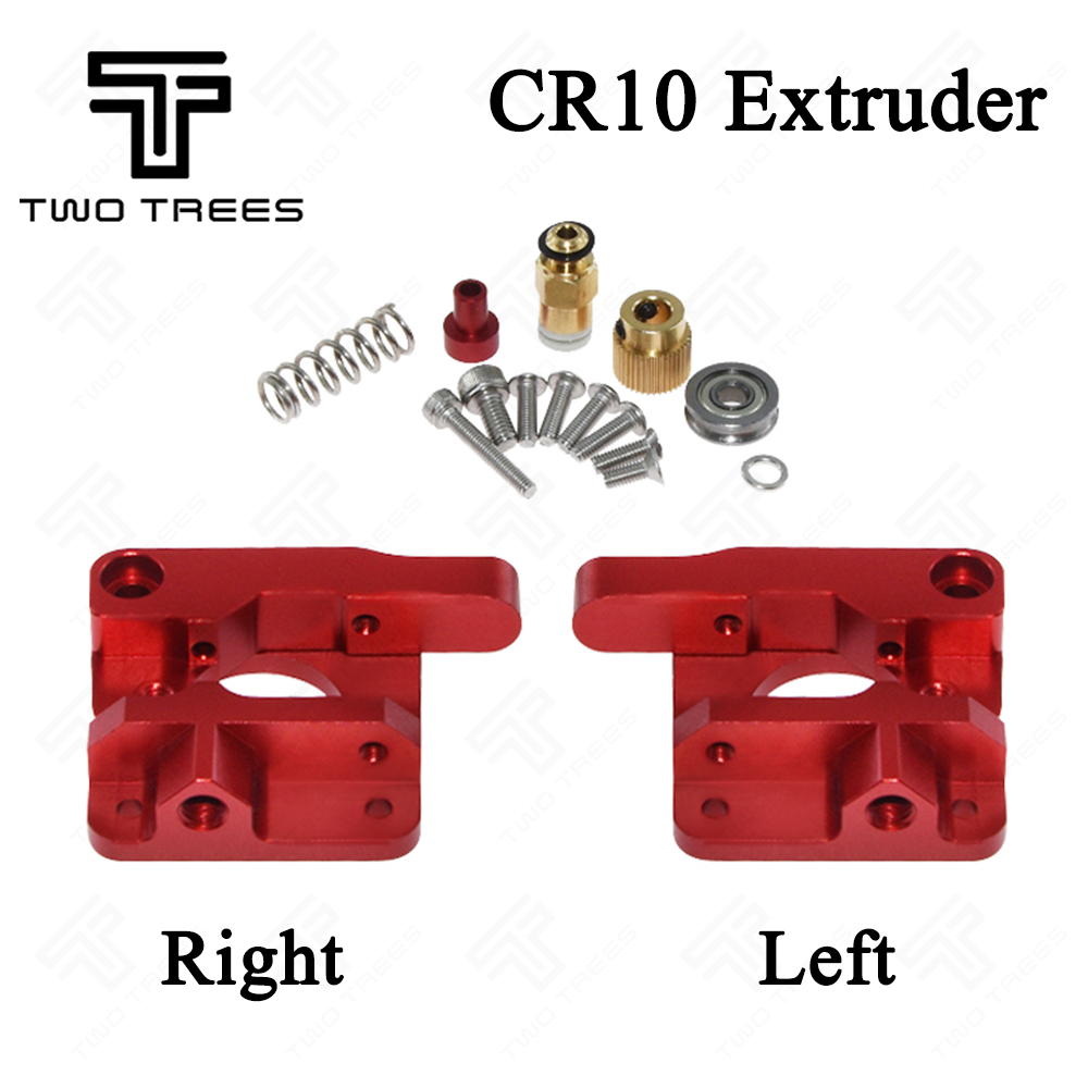 CR10 Extruder Upgraded Aluminum MK8 Drive Feed 3D Printer Extruders for Creality 3d cr-10 Cr-10S RepRap Prusa i3 1.75mm 3d parts cr10 310 310 410 410 510 510 3mm heatbed upgraded mk3 12v heated bed aluminum for cr 10 cr 10s cr 10 s5 3d printer hotbed parts