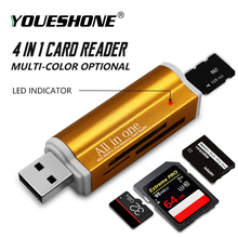 Высокое Качество Микро карта памяти мульти все в 1 ридер адаптер для Micro SD USB 2,0 TF M2 MMC MS PRO DUO кардридер