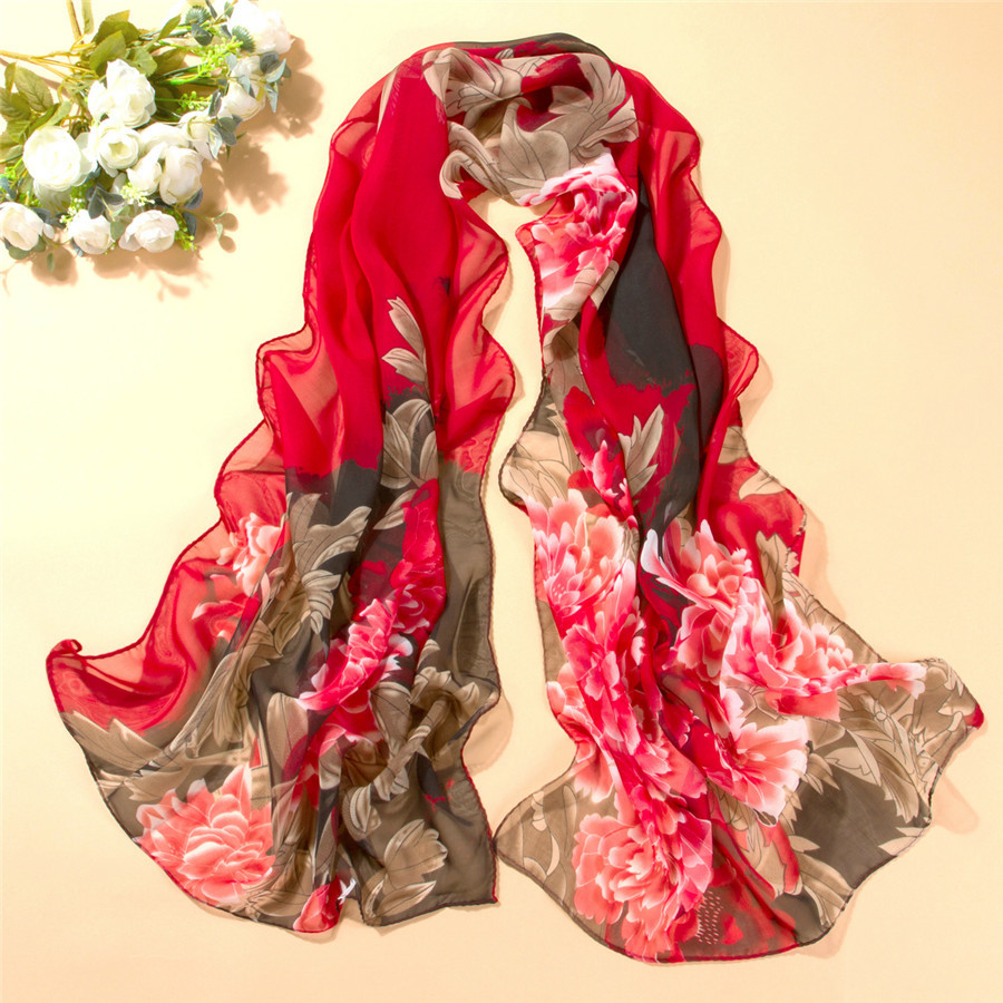 160*50CM New Scarf Spring Winter Pashmina Women Scarf Long Shawl Printed Cape Polyester Chiffon Tippet Muffler Echarpes Scarves