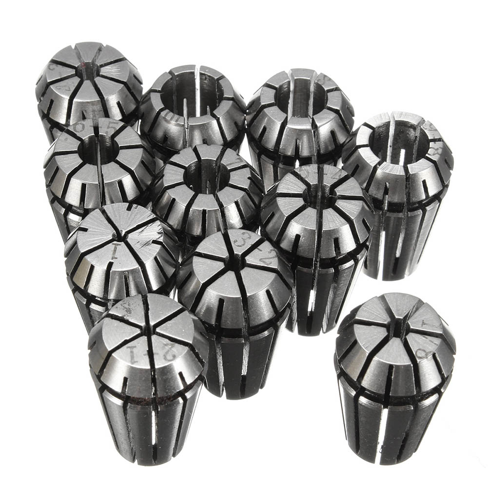 11 Pcs ER16 Spring Collet Set For CNC Workholding Engraving & milling Lathe Tools CLH@8 стоимость