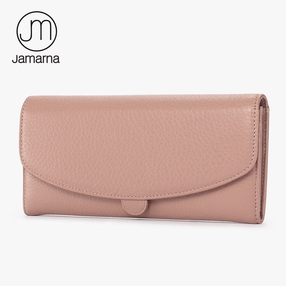 Jamarna Genuine Leather Wallet For Wallet Long Clutch Zipper Packet Coin Purse  Card Holder Phone Wallet Brand Free Shipping New