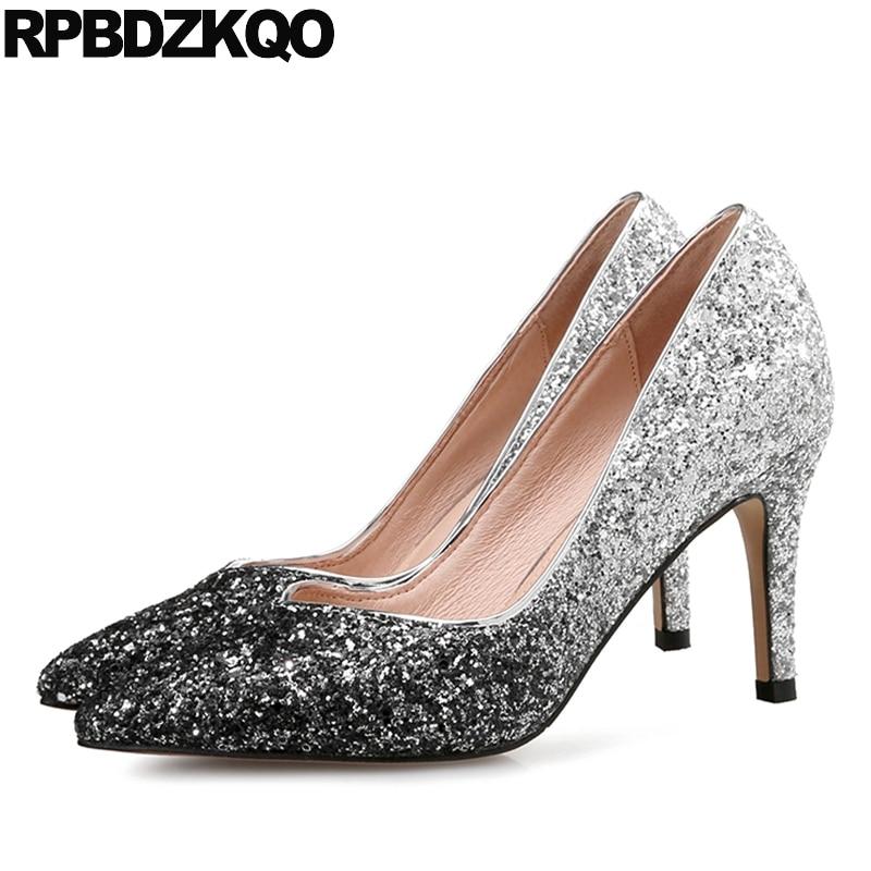 Silver Bridal Shoes Size