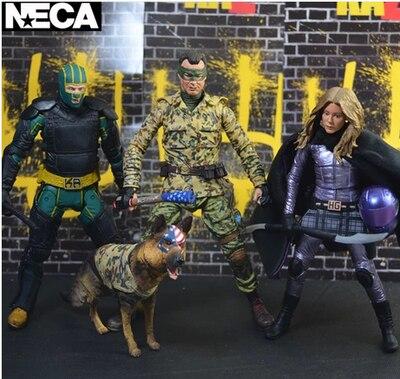 NECA 3PCS 7inch Kick Ass Mindy Macready  Colonel Movie Action Figure Toy
