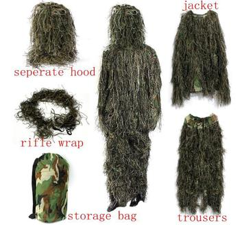 5Pcs PUBG Cosplay Costume Game Playerunknown Battlegrounds Ghillie Suit Cosplay Camouflage Concealed Clothing Gamer Cos Set 5