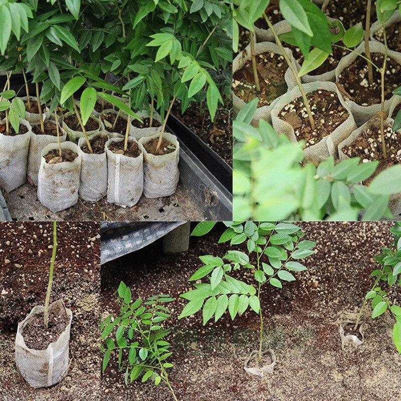 100Pcs 8*10cm Non Woven Nursery Pots Seedling Raising Bags Planting Grow Bag Environmental Protection Fabric Pot Garden Supplies