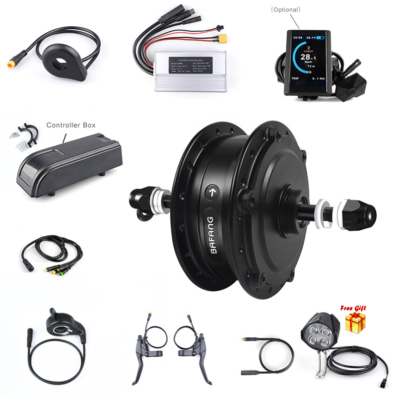 2019 New Arrival Electric Bicycle No Wheel Rear Hub Motor Conversion Kit 48V 500W 20 26'' E-Bike Motor With LCD Display