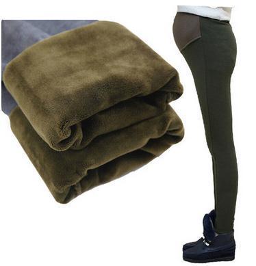 2017 Беременных женщин Поножи материнство брюки с кашемир мода зима материнства брюки живот SH-B53