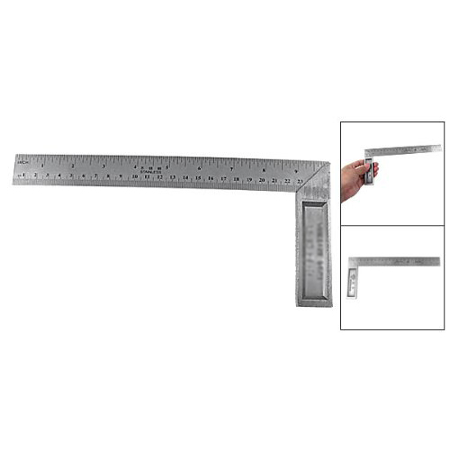 Affordable Hot Sale 102.4g 90 Degree 25cm Length Stainless Steel L-Square Angle Ruler
