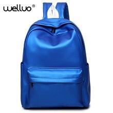 Wellvo Mochila masculina рюкзак Для женщин Серебро Голограмма лазерная рюкзак мужская кожаная сумка голографическая рюкзак многоцветный XA641B