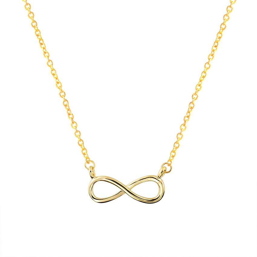 Zlato Šarm Infinity Privjesci Choker Ogrlice Za Žene Boho Nakit - Modni nakit - Foto 4