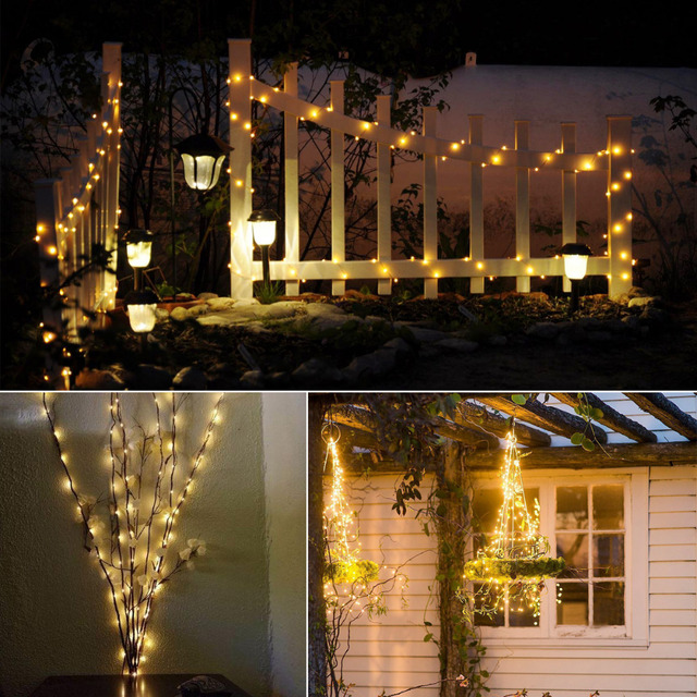 100/200leds Led Solar Light Fairy Strip lamp 10m 20m Outdoor Waterproof Holiday Wedding,Christmas, New Year Decor String