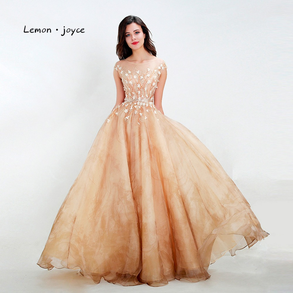 Lemon Joyce New Arrivals Prom Dresses 2019 Dusty Yellow