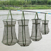 Foldable Fishing Network 3 Layer Round Trap Net 25cm/35cm/42cm Casting Shrimp Mesh Cage Telescopic podsachki Fishing Accessories