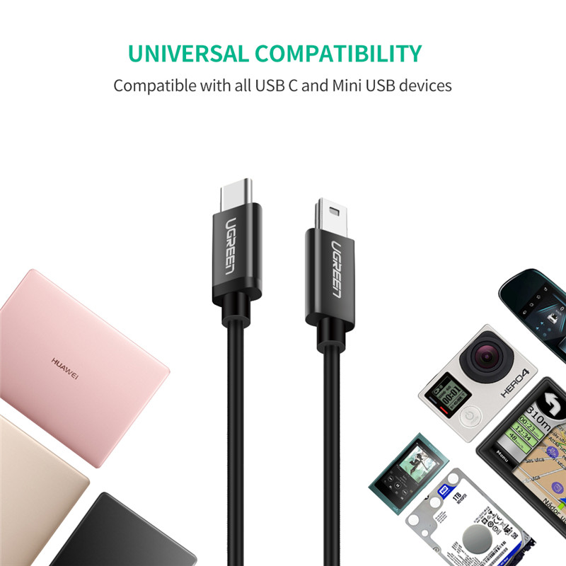 UGREEN® USB C To Mini USB Cable Thunderbolt 3 Mini USB Type C Adapter