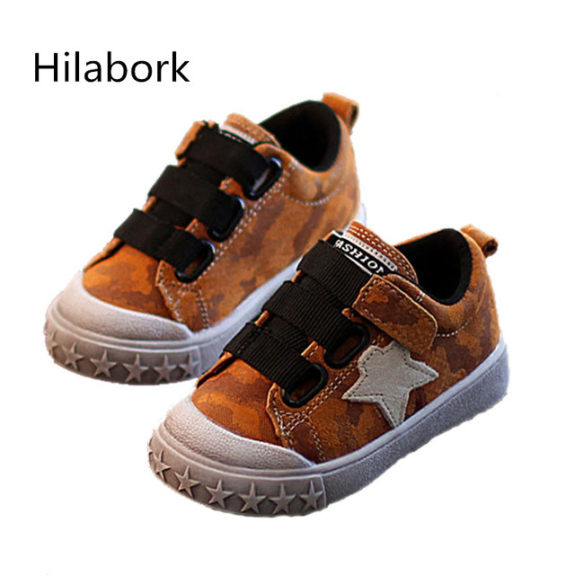 2017 spring new children's leather board shoes 1-12 year-old male and female children suede leather casual girls anti-slip shoes