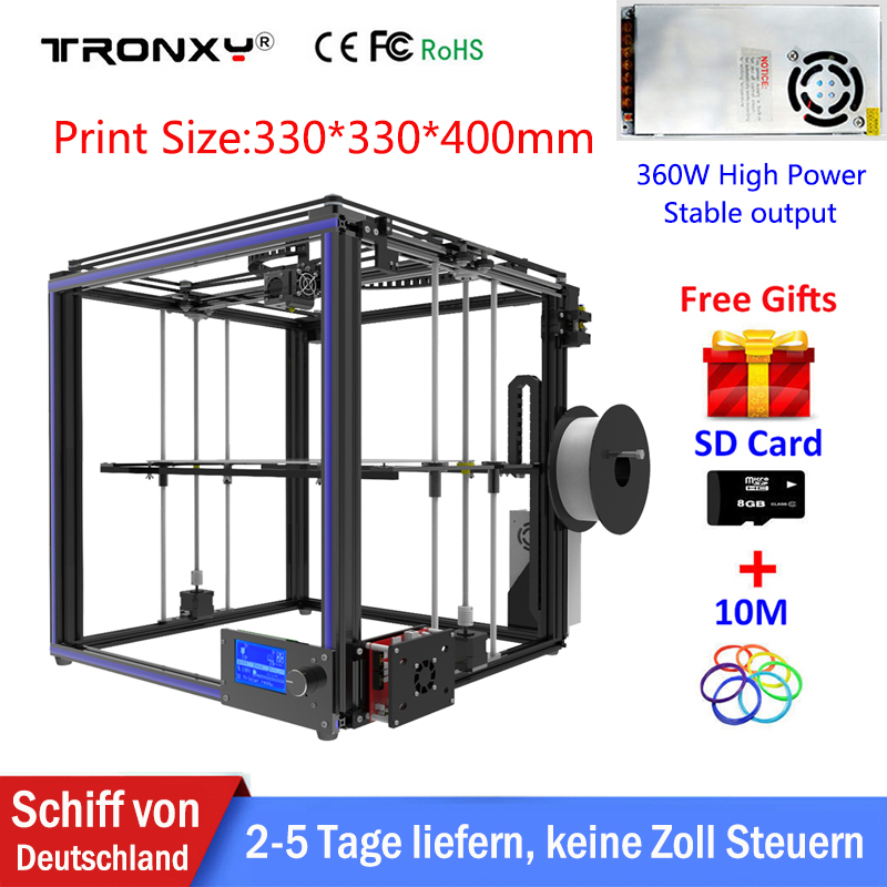 Hot Sale Tronxy 3d printer X5S High Quality Reprap 3D Print Size 330*330*400mm DIY 3D Printer Kit +Free 10M Filament 8GB SD Card [grandness] 2010 yr fuhai tea factory 7546 raw pu erh cake shen puer tea 357g fu hai puer green tea 357g pu erh green page 6