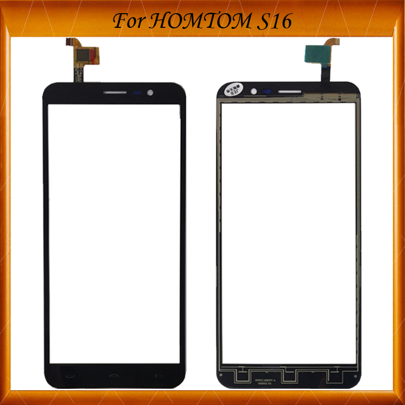 10pcs/lot 100% Working Well For HOMTOM S16 S 16 Tested Touch Panel For HOMTOM S16 S 16 Touch Screen Digitizer Replacement