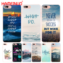 Inspirational Motivational Love Quotes cell phone Cover Case for iphone