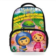 Anime Team Umizoomi  Design School Backpacks Fashion Children Shoulder Cute Book Backpack Teenager Boys Girls Travel Bagpack