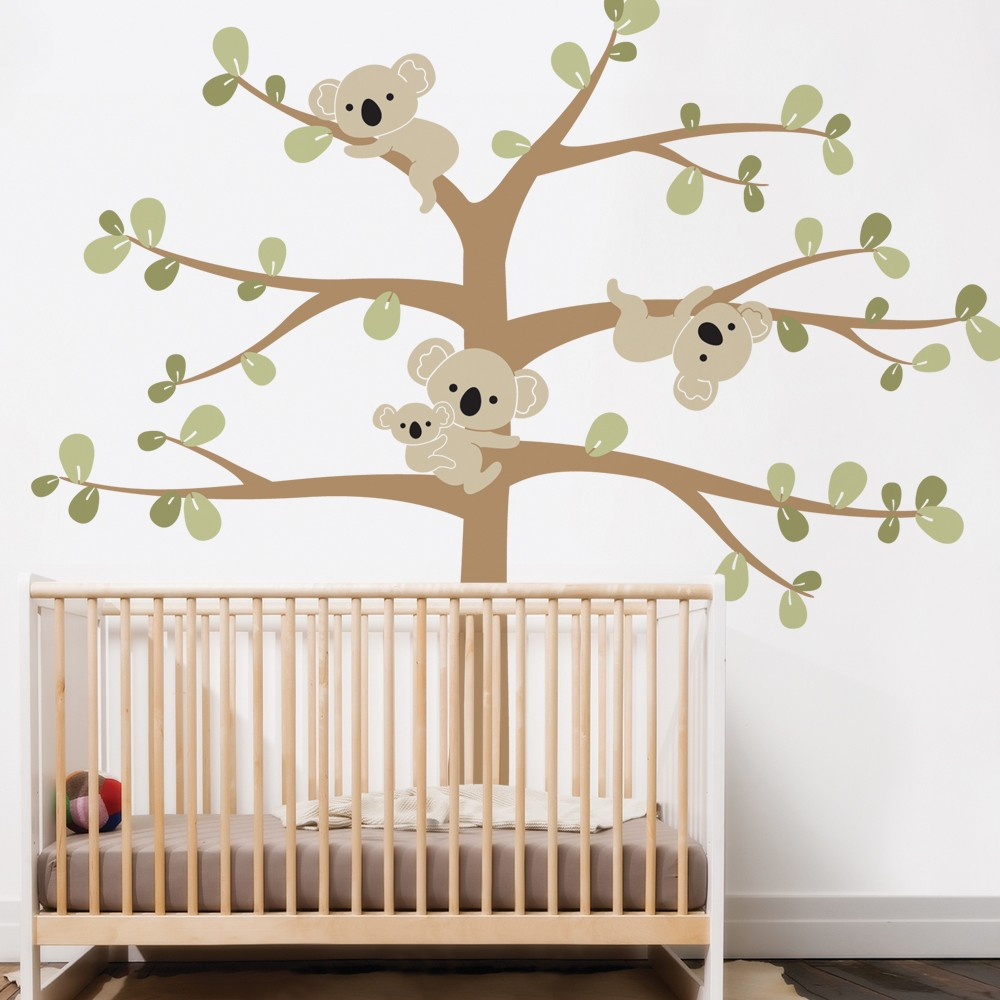 Oversize Cute Koala Tree Wall Decals For Nursery Custom Color Australia  Koslas Tree Wall Stickers For Kids Room Wall Tattoo A395 In Wall Stickers  From Home ... Part 39